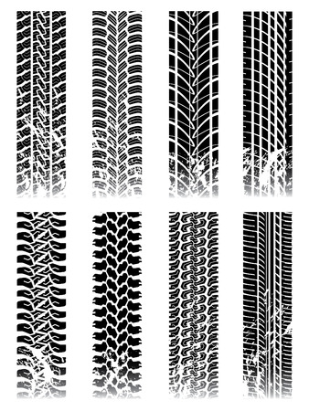 car tire: New set of tire tracks