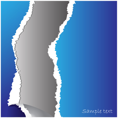 vertical divider: torn paper