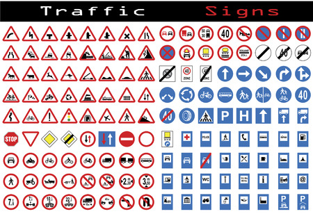Traffic sign collection Vector