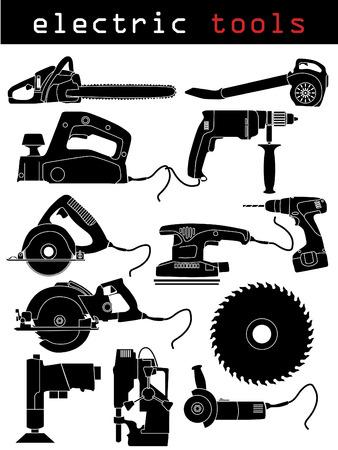 Elektrisch gereedschap  Vector Illustratie