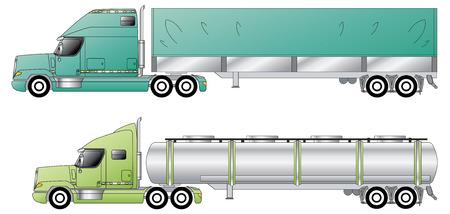 barco petrolero: Camiones convencionales estadounidenses & remolques