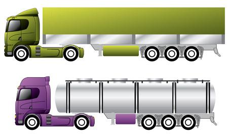European trucks with trailers