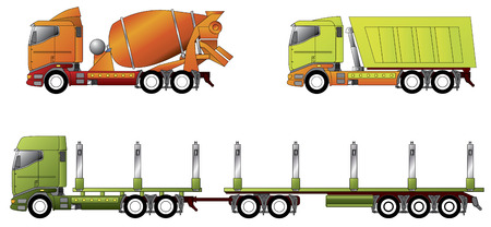 tipper: Construction and timber truck