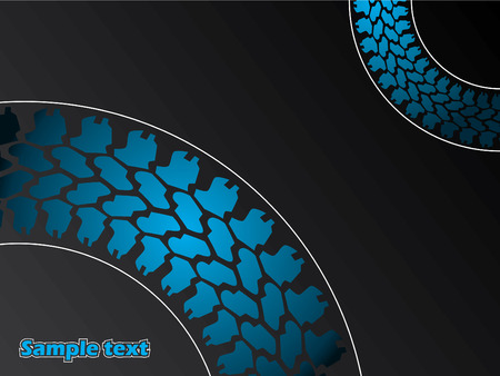 Tires and lines background Stock Vector - 6767115