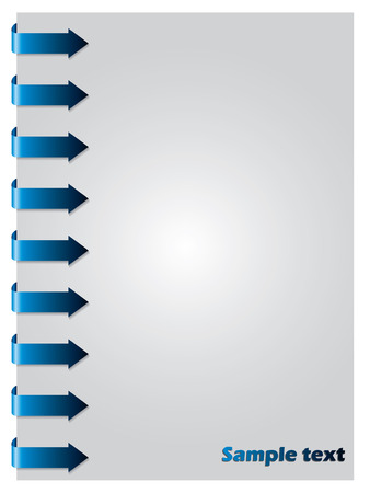 Blue arrows from side Vector