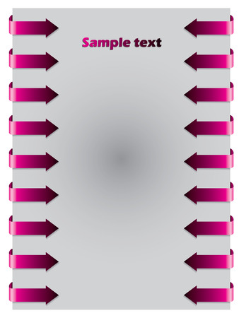 Pink arrows from both side Vector