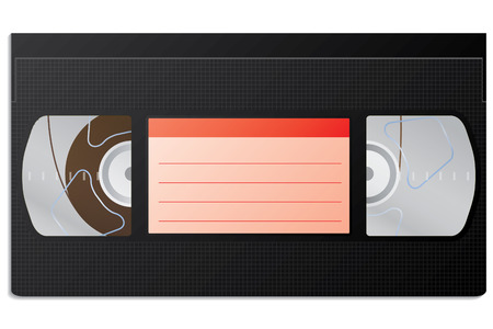 conventional: Classic video cassette Illustration