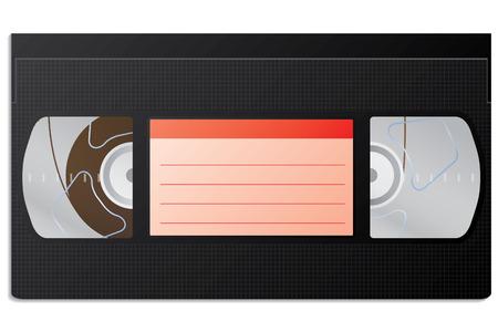 vcr: Classic video cassette Illustration