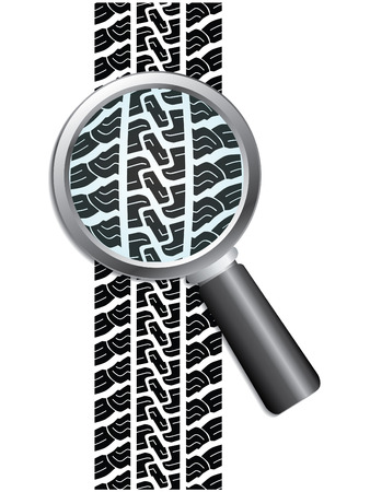 Close-up of tire Stock Vector - 6767151