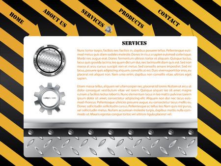 Construction web template Stock Vector - 6767169