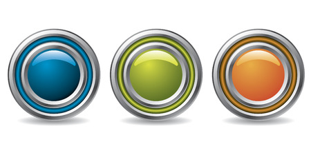 Cool buttons for the web Vector