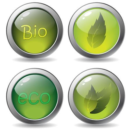 Bio buttons Stock Vector - 6802257