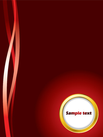 Red background with golden ring Stock Vector - 6802259