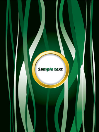 Green background with golden ring Stock Vector - 6802243