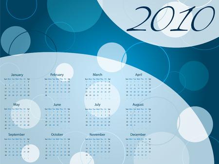 almanacs: 2010 dotted calendar