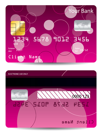 Pink credit card  Stock Vector - 6802459