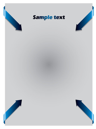 Blue arrows from corners  Vector