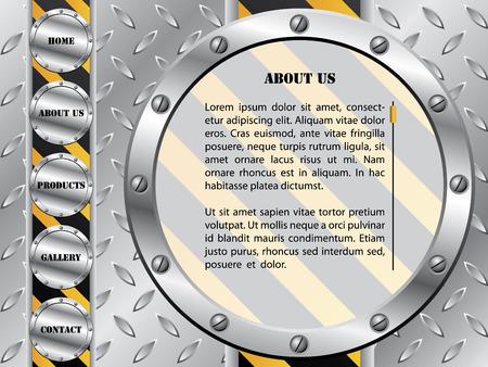 Metallic plate with screw web template Stock Vector - 6829327
