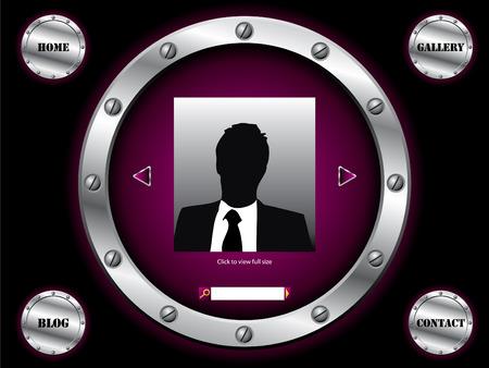 Dark purple website template  Vector