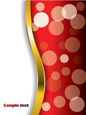 Cool bubbles on red with gold wave  Stock Vector - 6829339