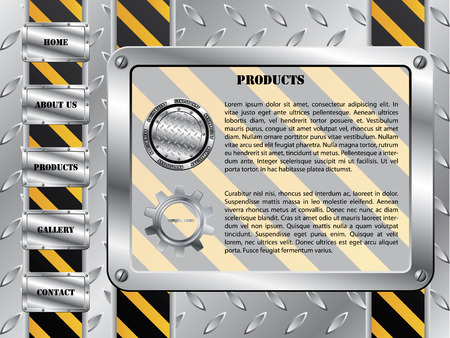 Metallic plate construction template Vector