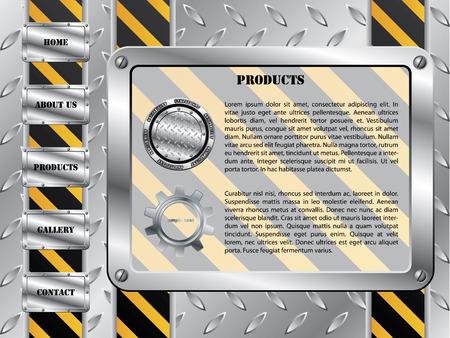Metallic plate construction template Stock Vector - 6829353