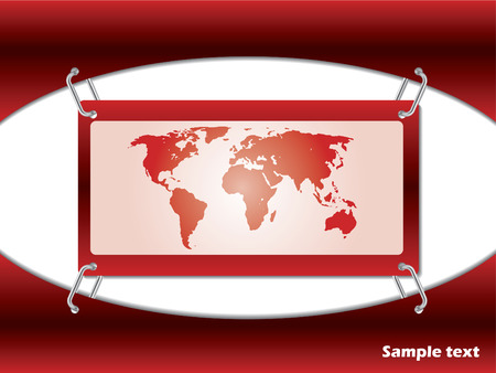 Red map card Vector