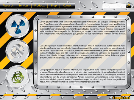 Biohazard construction web template Vector