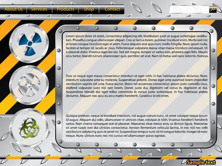 Biohazard construction web template Vector