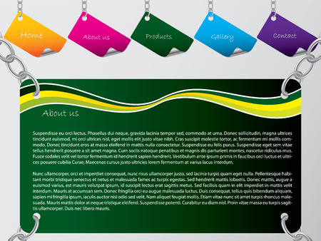 chained: Chained web template Illustration