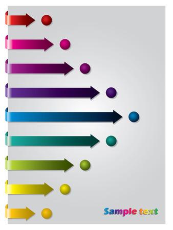 Arrows following dots Vector