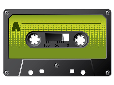Green halftone labeled cassette