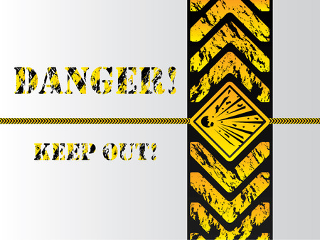Grunge danger background sign Stock Vector - 6858710