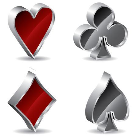 3d poker signs Stock Vector - 6883782