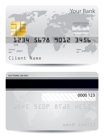 Gray credit card Stock Vector - 6919164