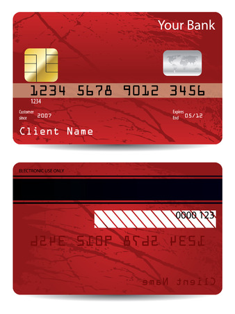 credit card debt: Grunge bank card