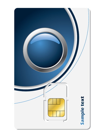 roaming: Sim card with abstract design