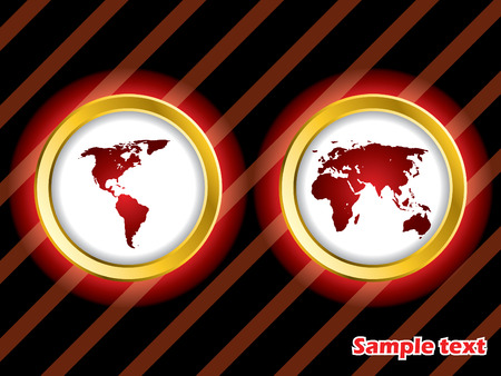 Glowing red world Stock Vector - 6934107