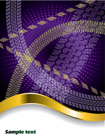 tire cover: Various tire treads on purple backdrop
