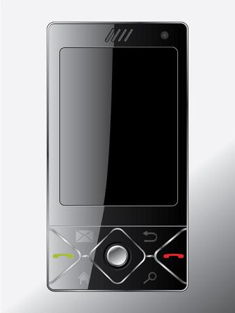 Sliding cell phone Stock Vector - 6934106