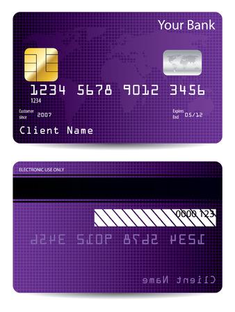 Purple world credit card Stock Vector - 7001812