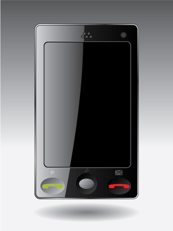 Cellphone with touchscreen Stock Vector - 7001835