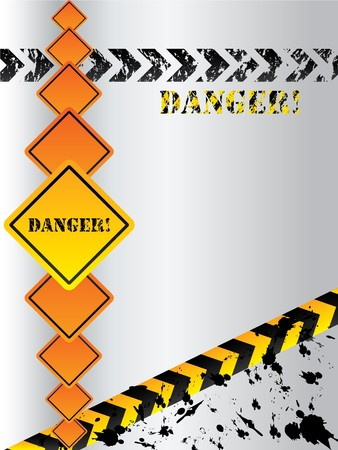 Warning grunge backdrop with signs and arrows Stock Photo - 7001849