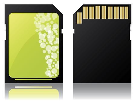 sd: Green label Sd card design