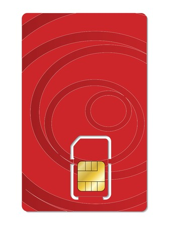 Abstract red sim card design Vector