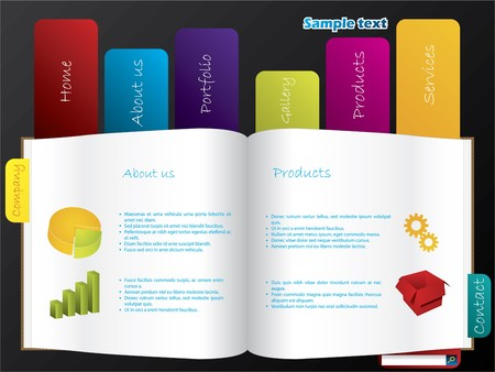 labeled: Labeled book web template Illustration