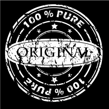 Grunge white seal on black  Stock Vector - 7044326