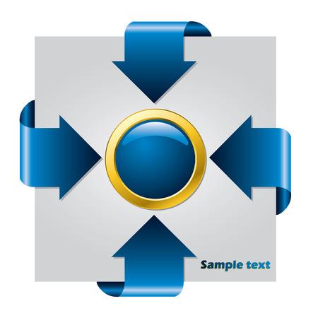 Blue arrow presentation brochure Stock Vector - 7089422
