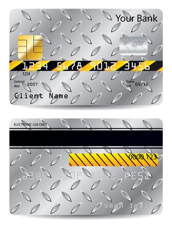 Metallic credit card Stock Vector - 7089421