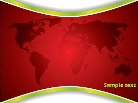digital print: Red map backdrop